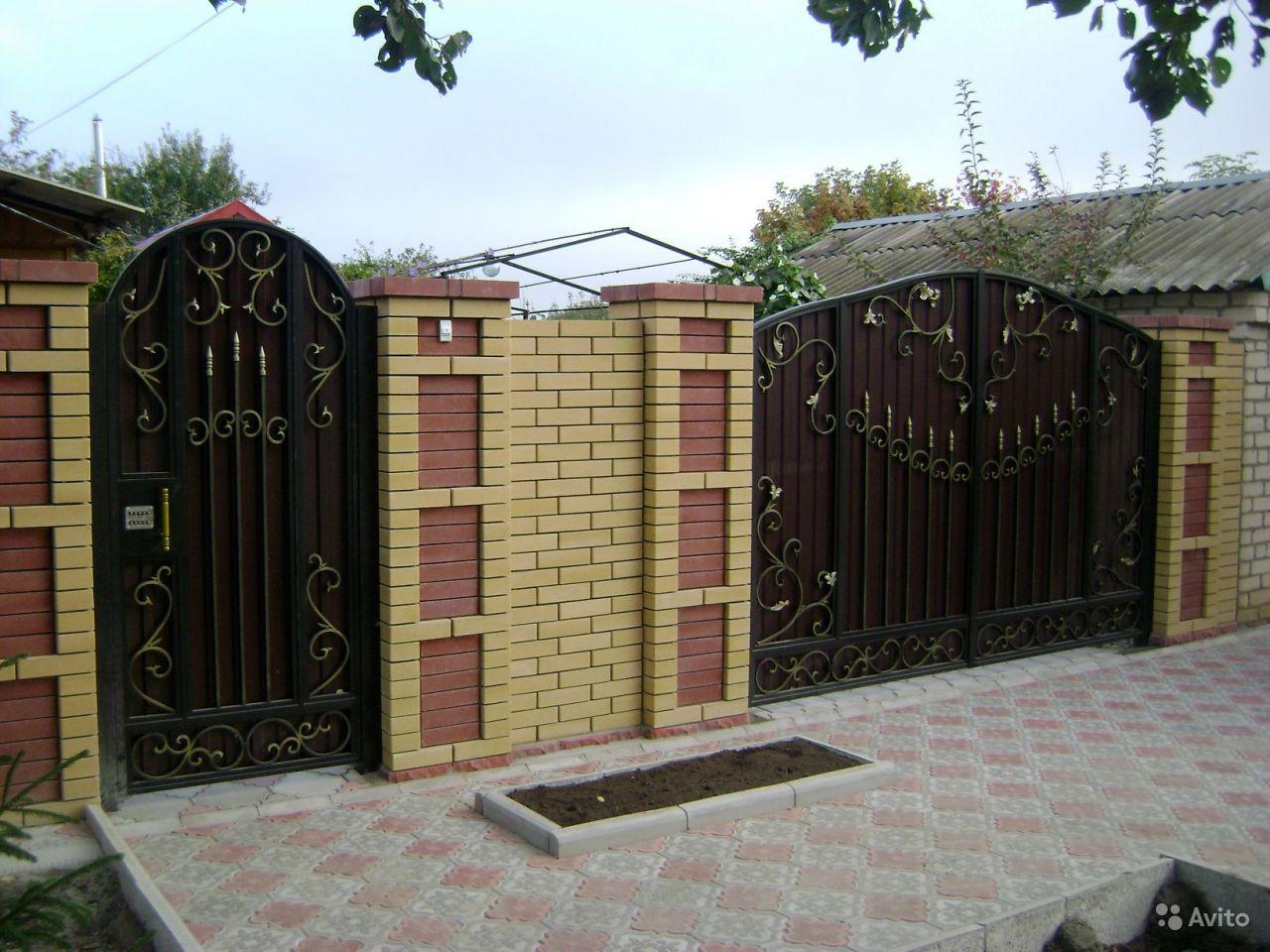 Ворота и калитка металические фото и цены автоматика самодельных распашных ворот